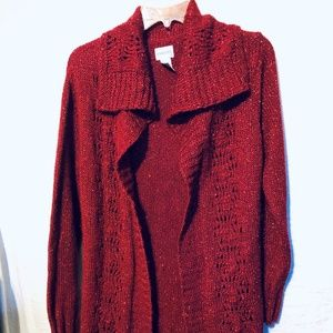 Chico's Sweaters - CARDIGAN BY CHICO'S SIZE 1 M/8